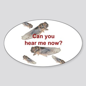 Cicada noise Oval Sticker