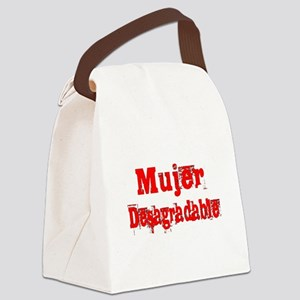 Mujer Desagradable Canvas Lunch Bag