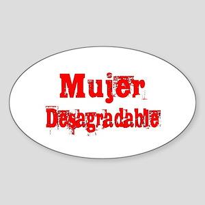 Mujer Desagradable Sticker