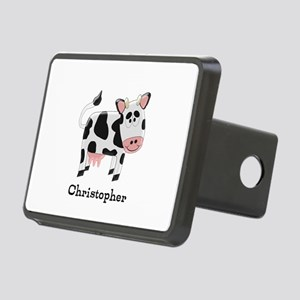 Cow Just Add Name Rectangular Hitch Cover