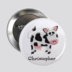 """Cow Just Add Name 2.25"""" Button"""