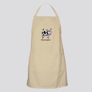 Cow Just Add Name Apron