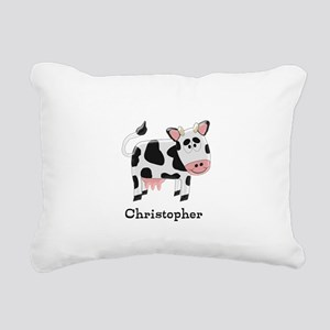 Cow Just Add Name Rectangular Canvas Pillow