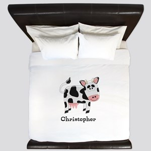 Cow Just Add Name King Duvet
