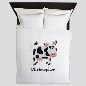 Cow Just Add Name Queen Duvet