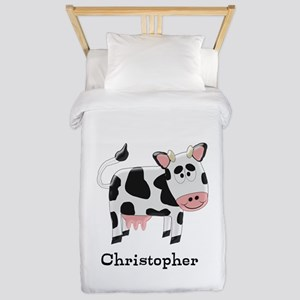 Cow Just Add Name Twin Duvet