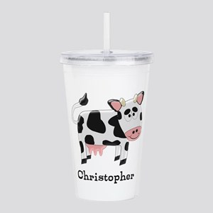 Cow Just Add Name Acrylic Double-wall Tumbler