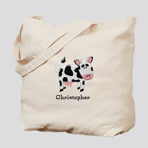 Cow Just Add Name Tote Bag