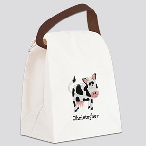 Cow Just Add Name Canvas Lunch Bag