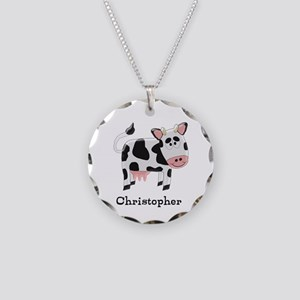 Cow Just Add Name Necklace Circle Charm