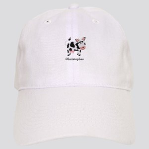 1ae78d7af5e Black And White Cow Light Hats - CafePress