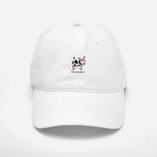 Cow Just Add Name Baseball Baseball Cap