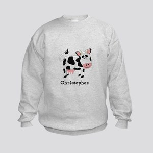 Cow Just Add Name Sweatshirt