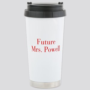 Future Mrs Powell-bod red Travel Mug