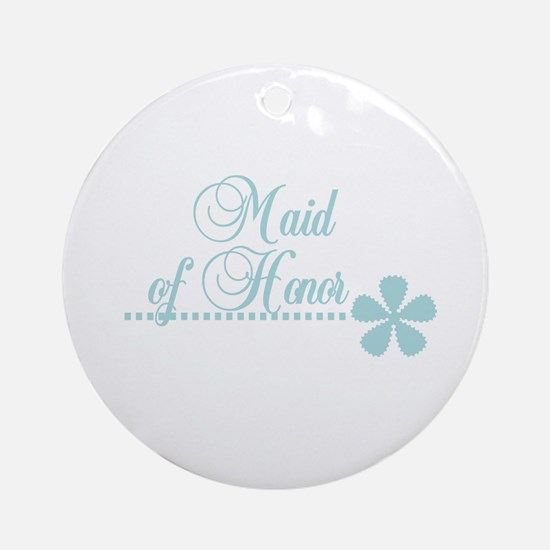 Maid Honor Elegance Ornament (Round)