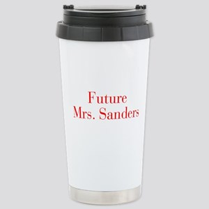 Future Mrs Sanders-bod red Travel Mug