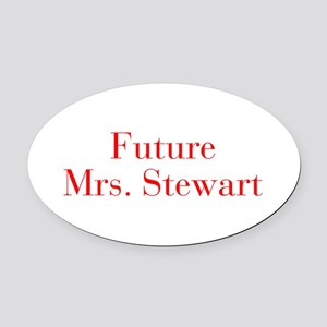 Future Mrs Stewart-bod red Oval Car Magnet