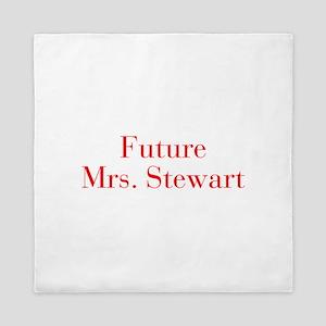 Future Mrs Stewart-bod red Queen Duvet