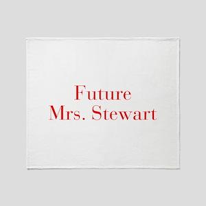 Future Mrs Stewart-bod red Throw Blanket