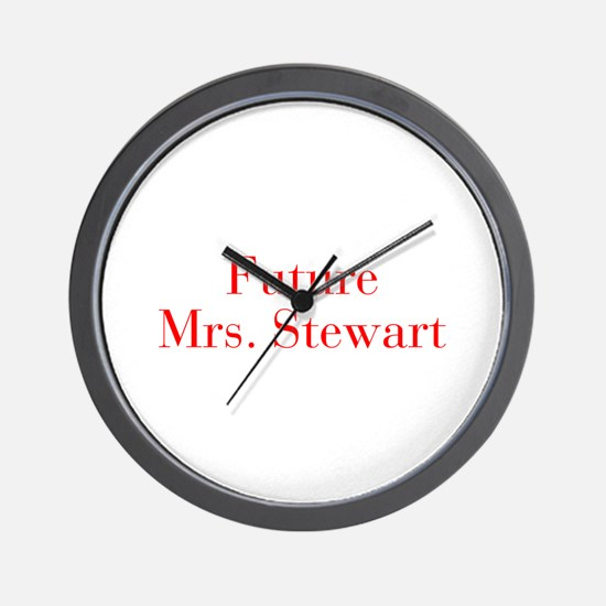 Future Mrs Stewart-bod red Wall Clock