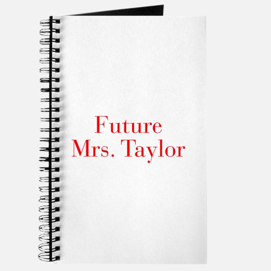 Future Mrs Taylor-bod red Journal