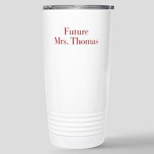 Future Mrs Thomas-bod red Travel Mug