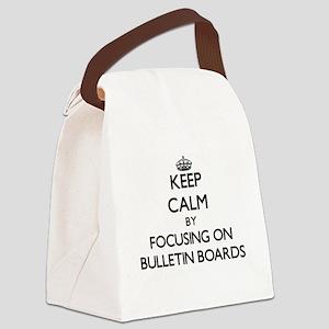Keep Calm by focusing on Bulletin Canvas Lunch Bag