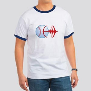 Deep Space Niners Logo Ringer T T-Shirt