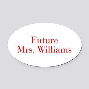 Future Mrs Williams-bod red Oval Car Magnet
