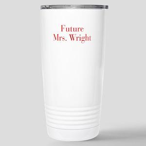 Future Mrs Wright-bod red Travel Mug