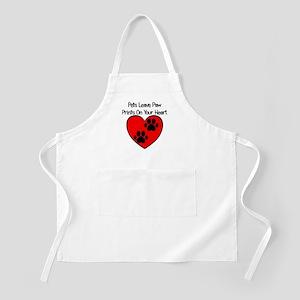 Paw Print Heart Apron