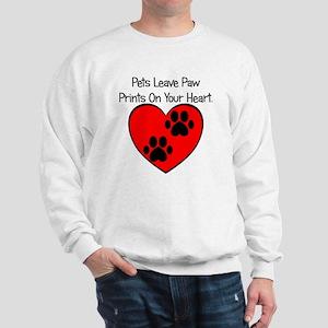Paw Print Heart Sweatshirt