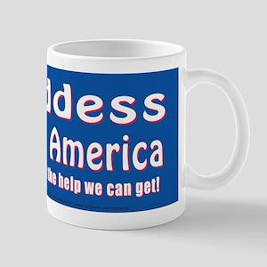 Goddess Bless America Mug
