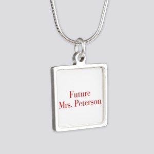 Future Mrs Peterson-bod red Necklaces