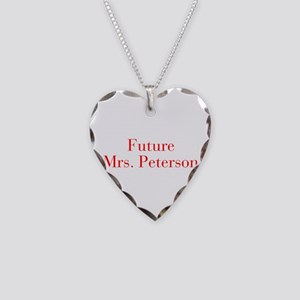 Future Mrs Peterson-bod red Necklace