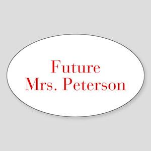 Future Mrs Peterson-bod red Sticker