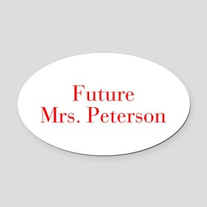 Future Mrs Peterson-bod red Oval Car Magnet