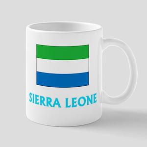 Sierra Leone Flag Classic Blue Design Mugs