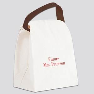 Future Mrs Peterson-bod red Canvas Lunch Bag