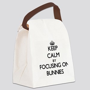 Keep Calm by focusing on Bunnies Canvas Lunch Bag