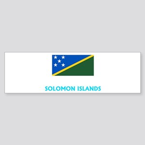 Solomon Islands Flag Classic Blue D Bumper Sticker