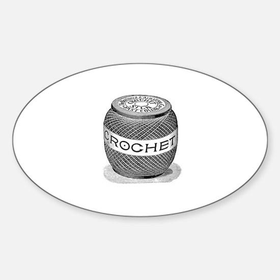 Crochet - Vintage Crochet Sil Oval Decal