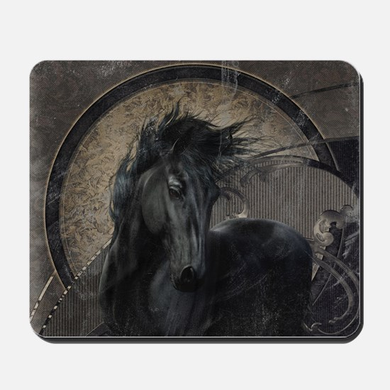 Gothic Friesian Horse Mousepad