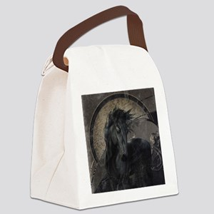 Gothic Friesian Horse Canvas Lunch Bag