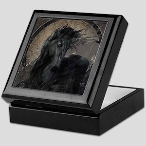 Gothic Friesian Horse Keepsake Box