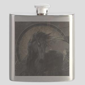 Gothic Friesian Horse Flask