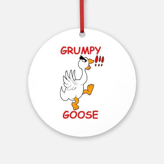 Grumpy Goose Ornament (Round)