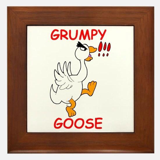 Grumpy Goose Framed Tile