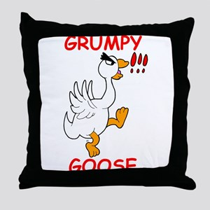 Grumpy Goose Throw Pillow