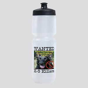 Wanted K-9 Killers Sports Bottle